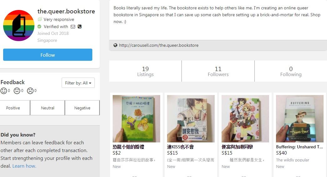 Singaporean Starts Online Bookshop With LGBT Themes, Wants